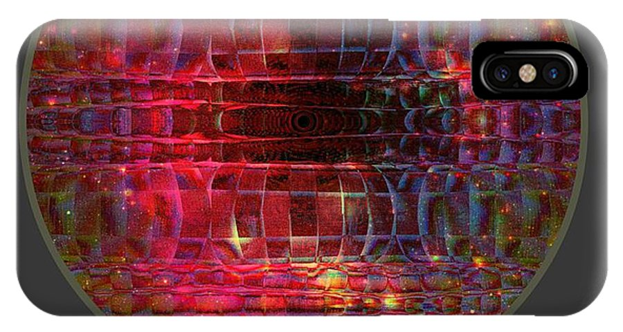 Friendship IPhone X Case featuring the digital art In The Zone by Meiers Daniel