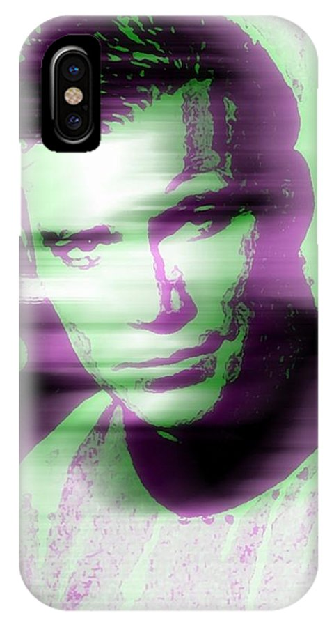 Television IPhone X Case featuring the digital art In Tide Of Time by Jennifer Choate