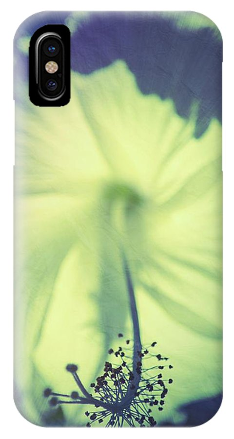 Flower IPhone X Case featuring the photograph Inception by Christian Schroeder