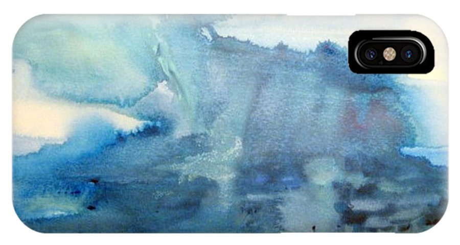 Watercolor IPhone X Case featuring the painting Incoming by Tracy Parsons