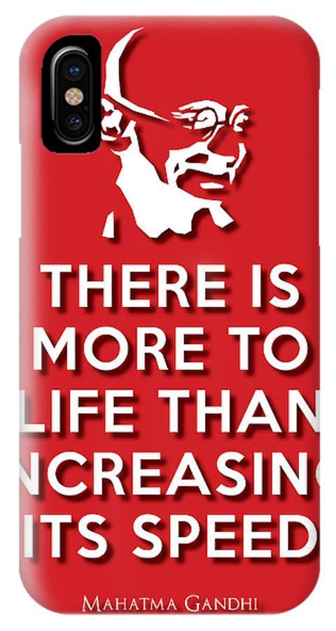 Life Message IPhone X Case featuring the digital art Increasing Speed Red by Splendid Notion Series