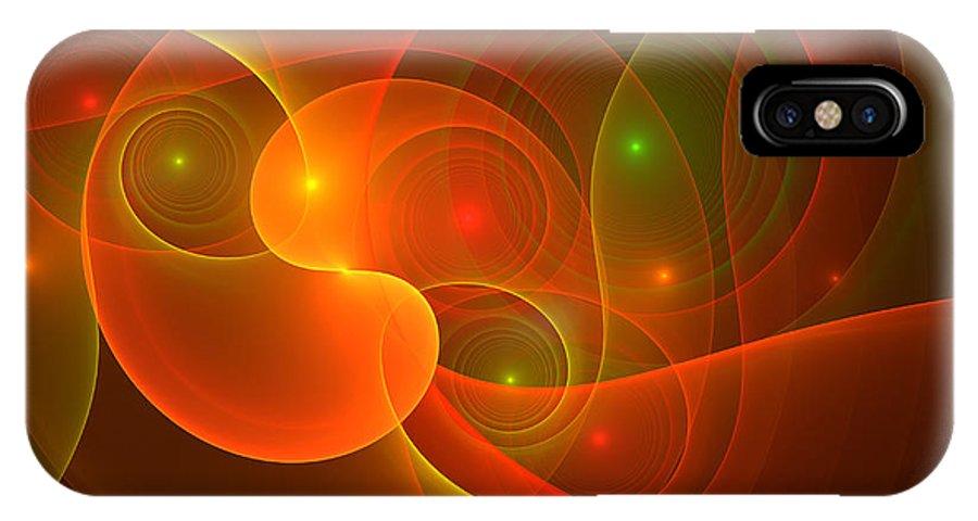 Digital Art IPhone X Case featuring the digital art Incredible by Gabiw Art