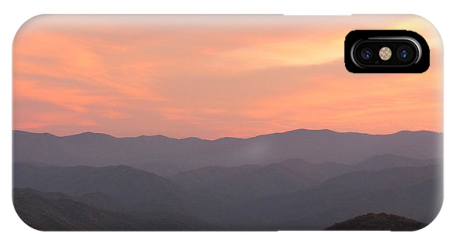 Fall Colors IPhone X Case featuring the photograph Incredible Sunset At Max Patch by Anita Adams