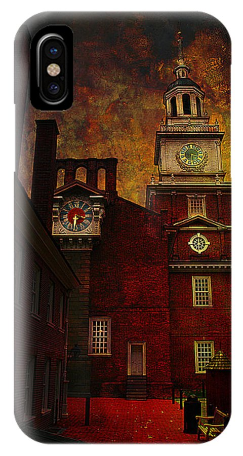 Philadelphia IPhone X Case featuring the photograph Independence Hall Philadelphia Let Freedom Ring by Jeff Burgess
