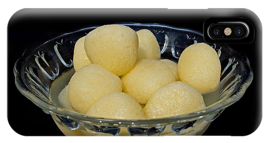 Rasgulla IPhone X Case featuring the photograph Indian Dessert - Rasgulla by Image World