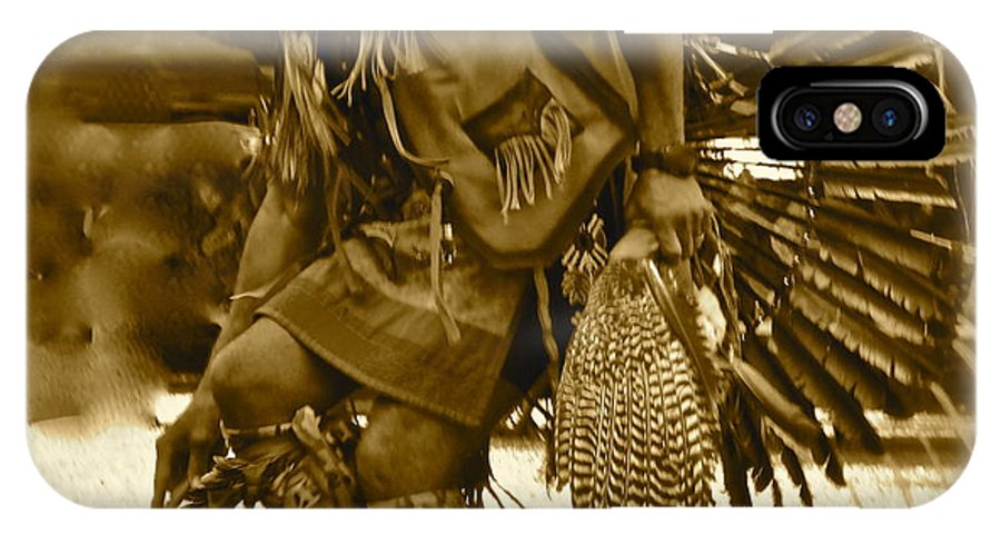 Indian IPhone X Case featuring the photograph Indian Spirit by Esther Wilhelm Pridgen
