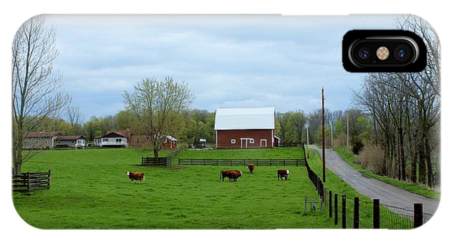 Barn IPhone X Case featuring the photograph Indiana Barn 6 by Nelson Skinner