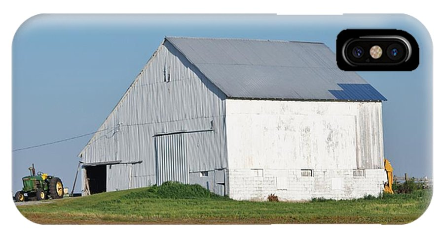 Barn IPhone X Case featuring the photograph Indiana Barn 8 by Nelson Skinner