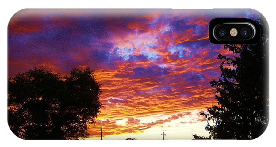 Landscape IPhone X Case featuring the digital art Indiana Sunset by P Dwain Morris