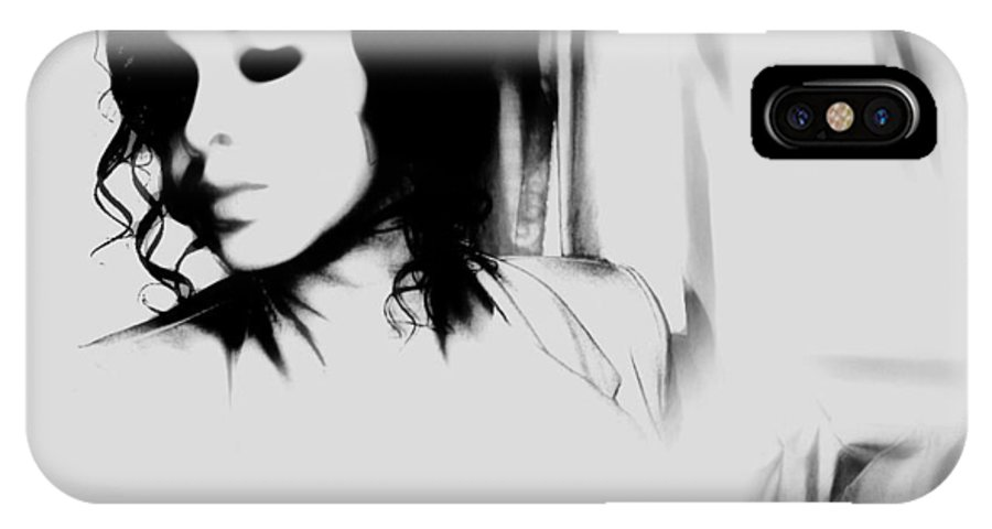 Black IPhone X Case featuring the photograph Indifferent by Jessica Shelton