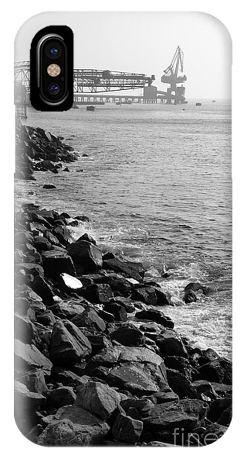 Coast IPhone X Case featuring the photograph Industrial Coastline by James Brunker