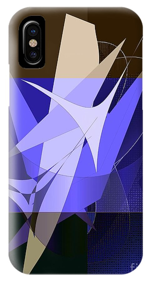 Digital IPhone X Case featuring the digital art Industry by Iris Gelbart