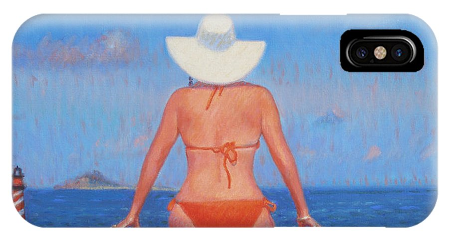 Woman IPhone X Case featuring the painting Infinity by Candace Lovely