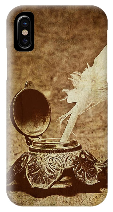 Antique IPhone X Case featuring the photograph Inkwell II by Tom Mc Nemar