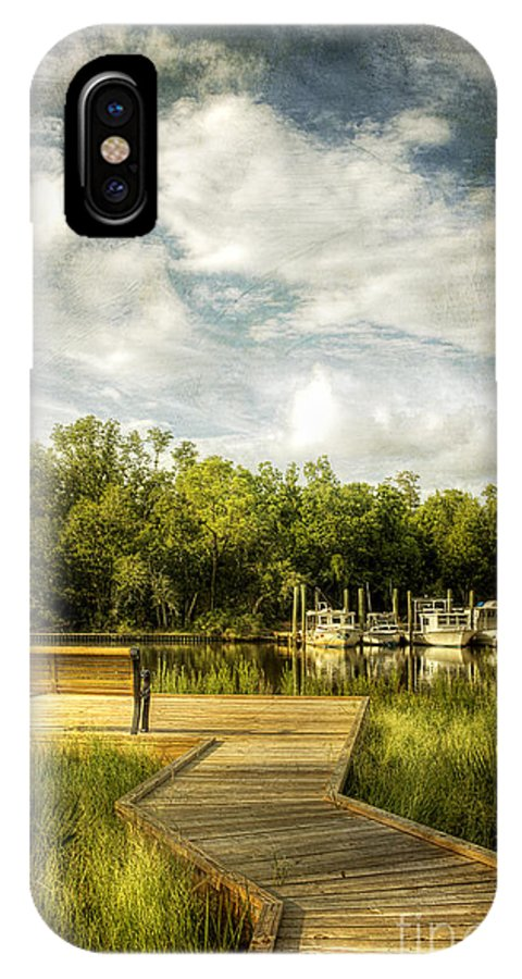 Ocean Springs IPhone X Case featuring the photograph Inner Harbor View by Joan McCool