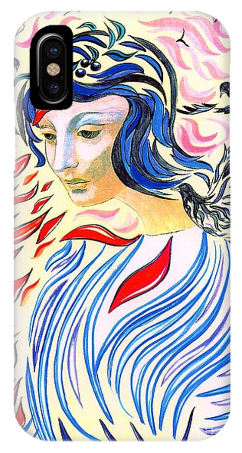 Love IPhone X Case featuring the painting Inner Peace by Jane Small