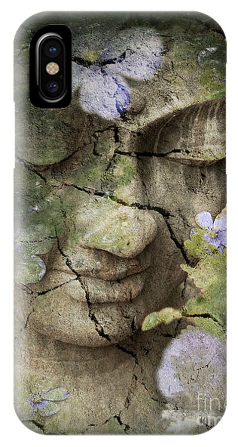 Buddha IPhone X Case featuring the mixed media Inner Tranquility by Christopher Beikmann