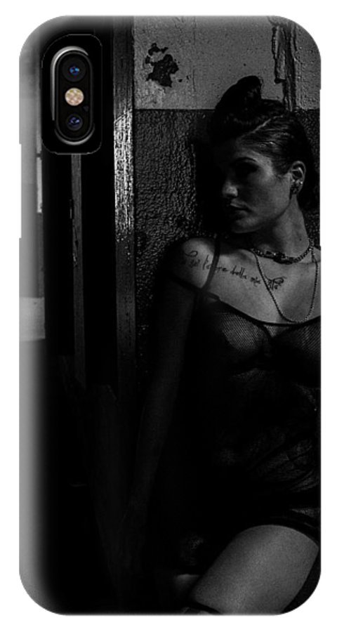 Black And White IPhone X Case featuring the photograph Innocence Lost by Blue Muse Fine Art