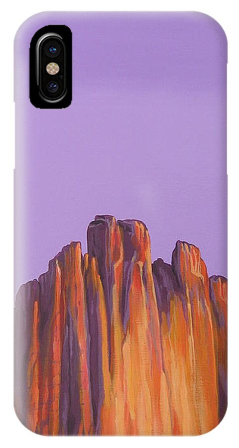 Landscape IPhone Case featuring the painting Inscription Rock by Hunter Jay