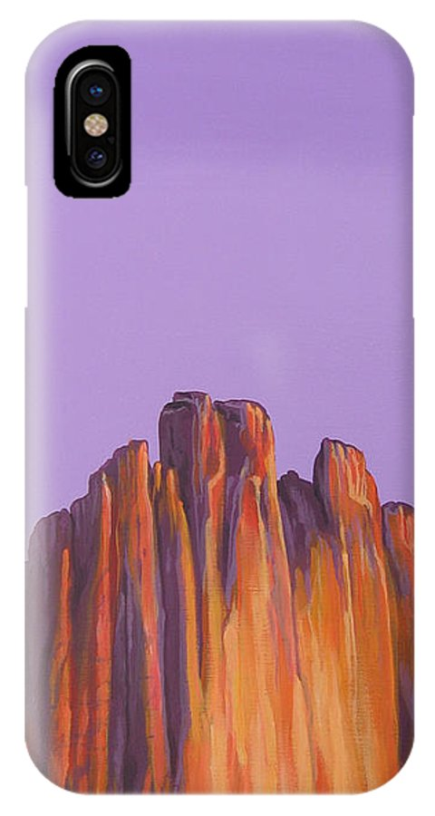 Landscape IPhone X Case featuring the painting Inscription Rock by Hunter Jay