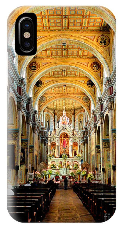 Church IPhone X Case featuring the photograph Inside Santo Domingo by Al Bourassa
