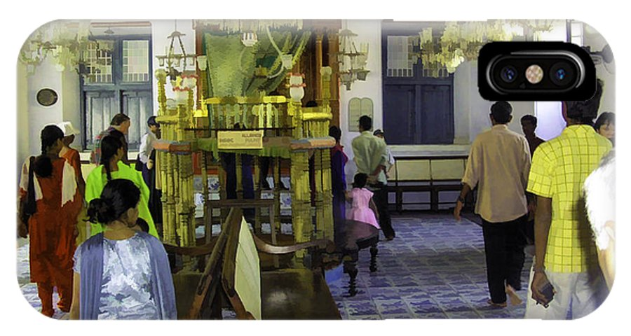 Building IPhone X Case featuring the digital art Inside The Historic Jewish Synagogue In Cochin by Ashish Agarwal