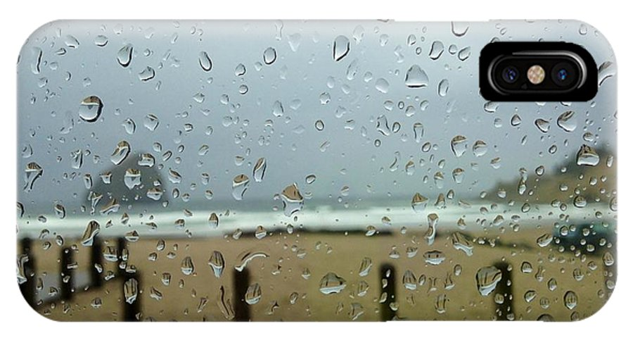 Rainy Day At The Beach IPhone X Case featuring the photograph Inside Warmth by Susan Garren
