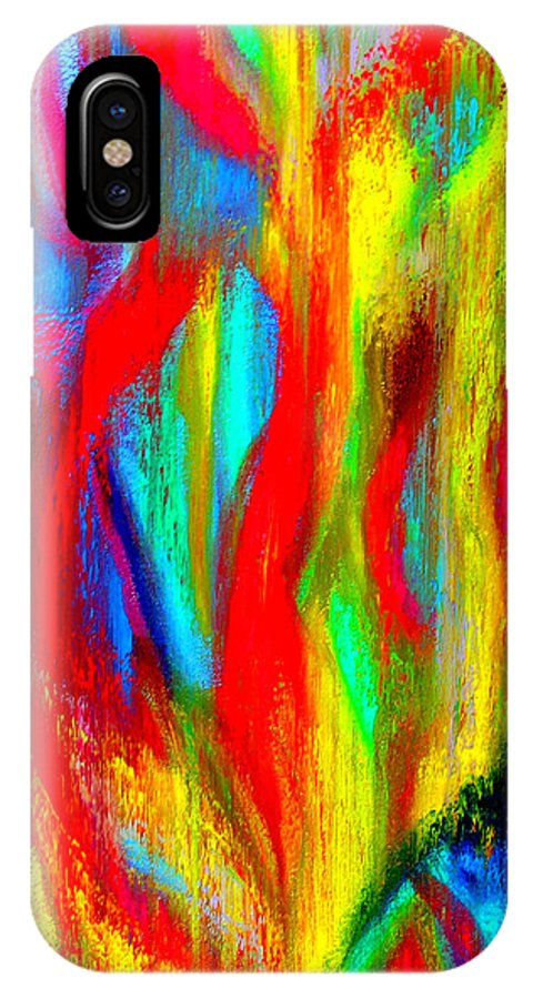 Abstract IPhone X Case featuring the painting Inspire Experiment by Stan Hamilton