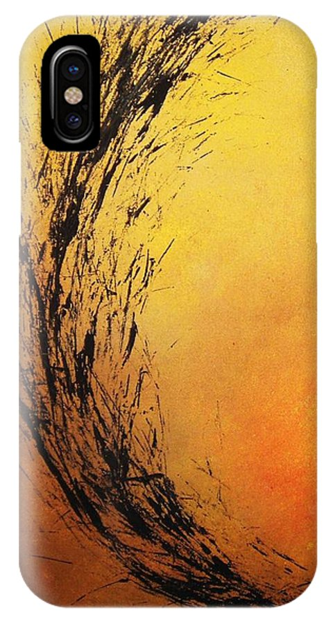 Abstract IPhone Case featuring the painting Instinct by Todd Hoover