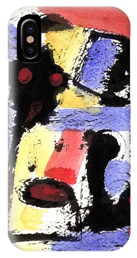 Abstract Art IPhone X Case featuring the painting Intense And Purpose 2 by Stephen Lucas
