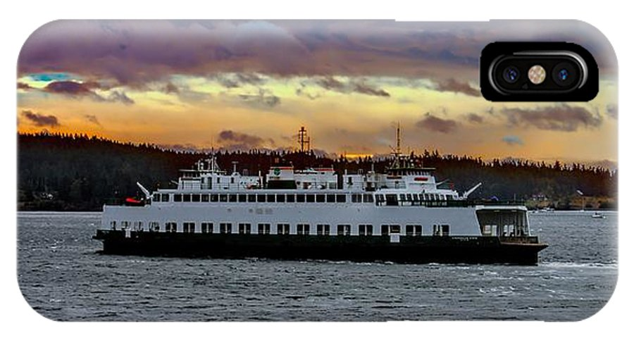 Sunset IPhone X / XS Case featuring the photograph Inter-island Ferry by Rick Lawler