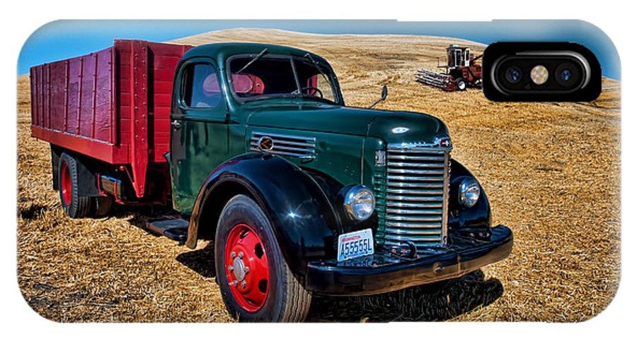 International IPhone X Case featuring the photograph International Farm Truck by Paul DeRocker
