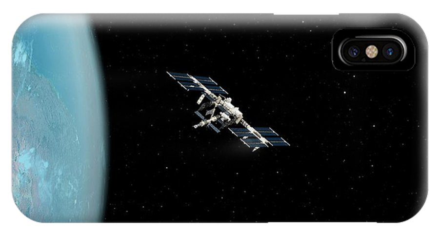 Artwork IPhone X Case featuring the photograph International Space Station by Sciepro/science Photo Library