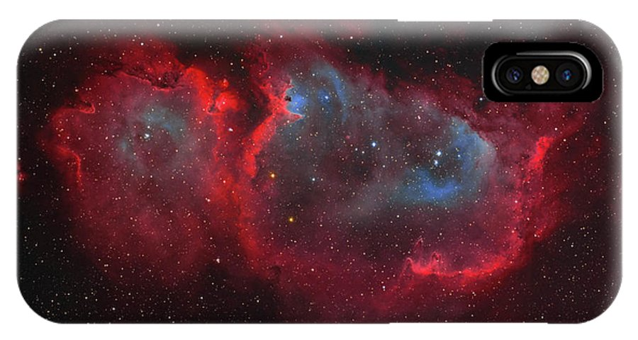 Horizontal IPhone X Case featuring the photograph Interstellar Embryo Ic 1848, The Soul by Lorand Fenyes
