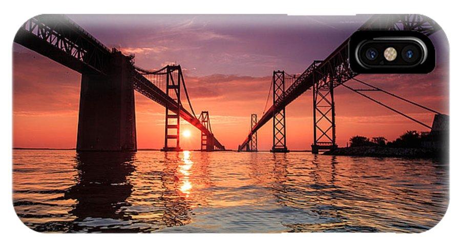 Landscape IPhone X Case featuring the photograph Into Sunrise - Bay Bridge by Jennifer Casey