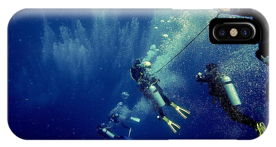 Dive IPhone X Case featuring the photograph Into The Abyss by William Triplett