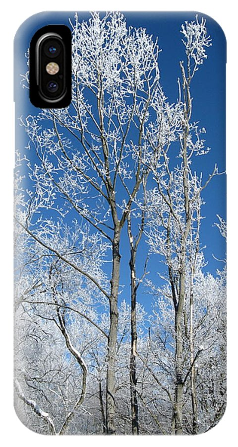 Nature IPhone X Case featuring the photograph Into The Blue by Jonathan Hatfield