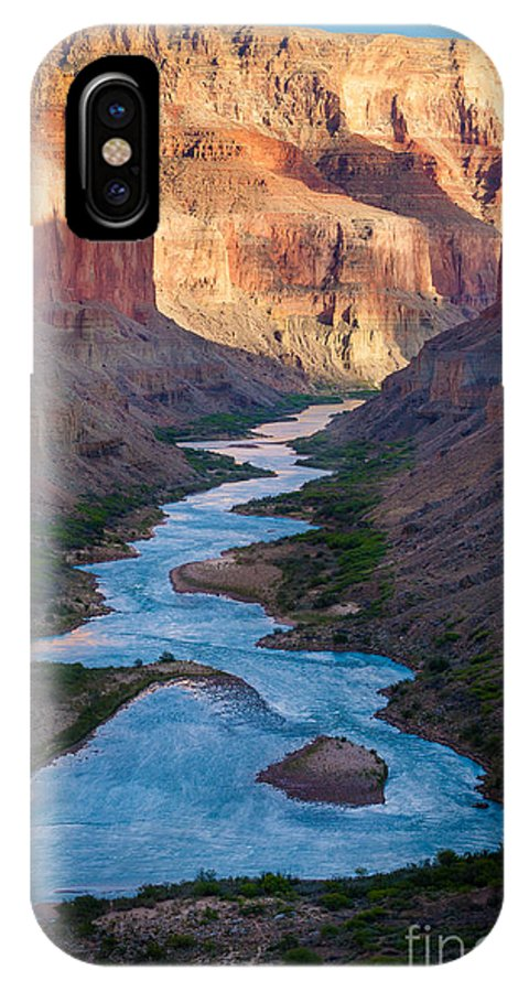 America IPhone X Case featuring the photograph Into The Canyon by Inge Johnsson