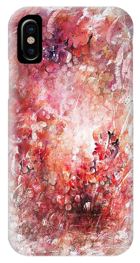 Enchantment IPhone X Case featuring the painting Into The Enchantment by Rachel Christine Nowicki
