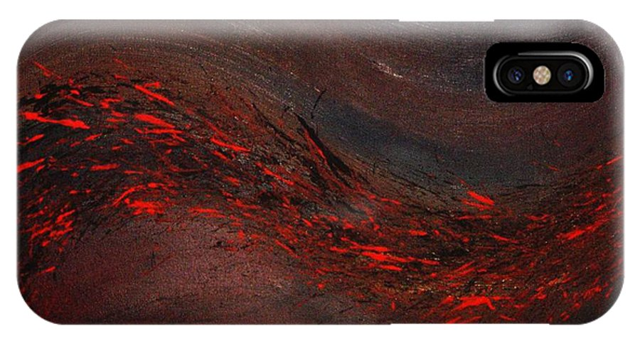 Acrylic IPhone X Case featuring the painting Into The Night by Todd Hoover