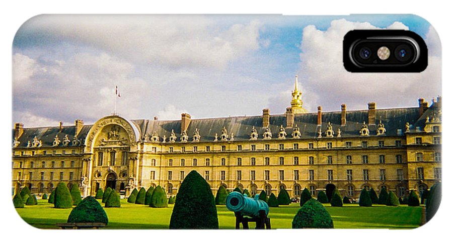 Invalides IPhone X Case featuring the photograph Invalides Paris France by Bobby Uzdavines