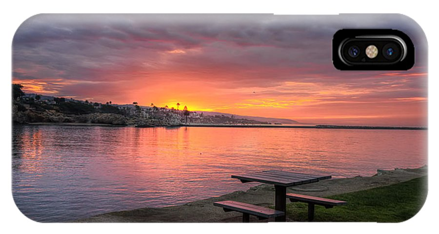 Inviting IPhone X Case featuring the photograph Inviting Sunrise by Eddie Yerkish