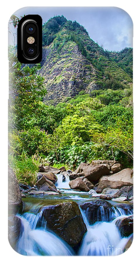 Maui IPhone X Case featuring the photograph Ioa Falls by Baywest Imaging
