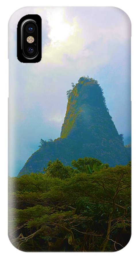Maui IPhone X Case featuring the photograph 'ioa Needle On Maui by Richard Jenkins