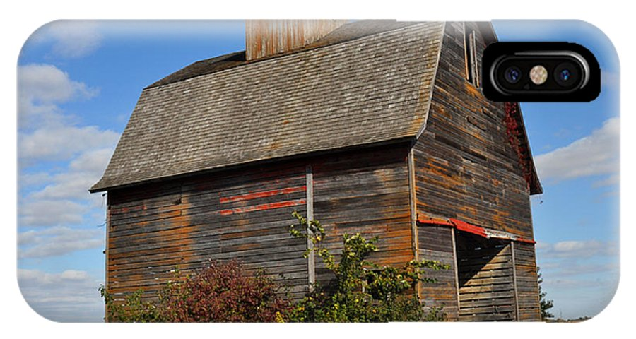 Iowa IPhone X Case featuring the photograph Iowa Barn by Diane Lent