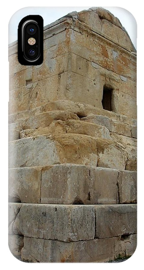 Cyrus The Great IPhone X Case featuring the photograph Iran Cyrus Tomb Pasargadae by Lois Ivancin Tavaf