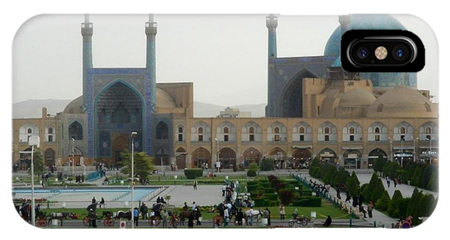 Iran IPhone X Case featuring the photograph Iran Isfahan by Lois Ivancin Tavaf