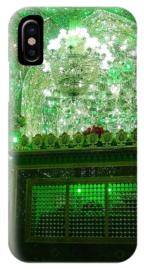 Shiraz IPhone X Case featuring the photograph Iran Shiraz Mausoleum by Lois Ivancin Tavaf