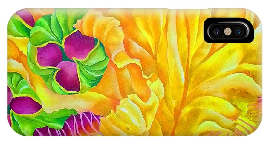 Iris IPhone X Case featuring the painting Iree by Elizabeth Elequin