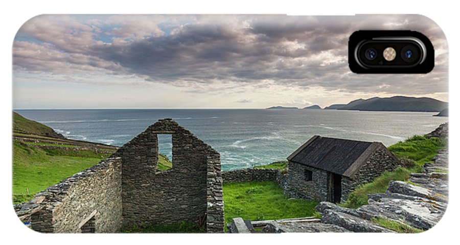 Building IPhone X Case featuring the photograph Ireland, County Kerry, Slea Head Drive by Walter Bibikow